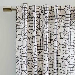 *WEST ELM* Cotton Canvas Sketched Geo Curtains